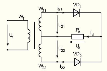 Схема выпрямления со средней точкой 548