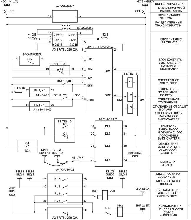 Схема управления масляным выключателем фото 477
