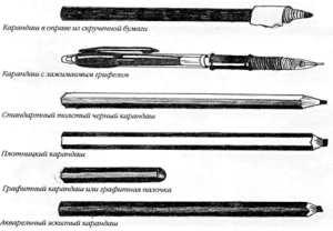 Какие бывают карандаши для рисования