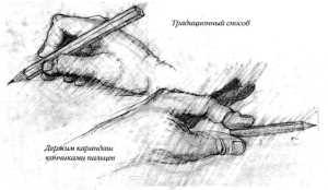 Способы держать карандаш