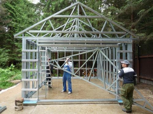 Строительство из металлопрофиля своими руками