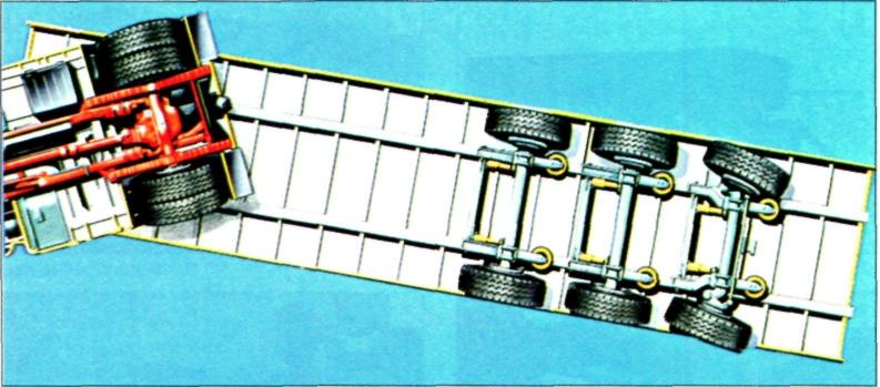 Схема движения задним ходом на полуприцепе