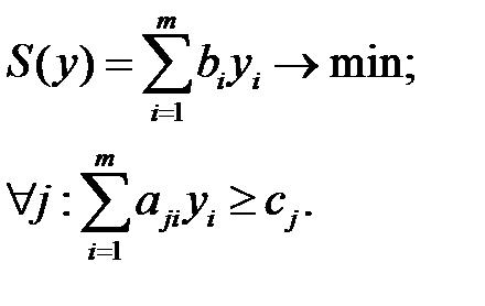 Получение двойственной задачи линейного программирования