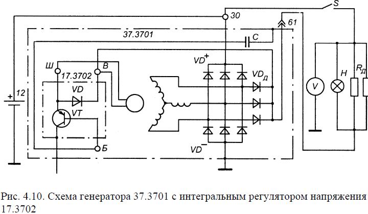 Интегральная схема на генератор уаз