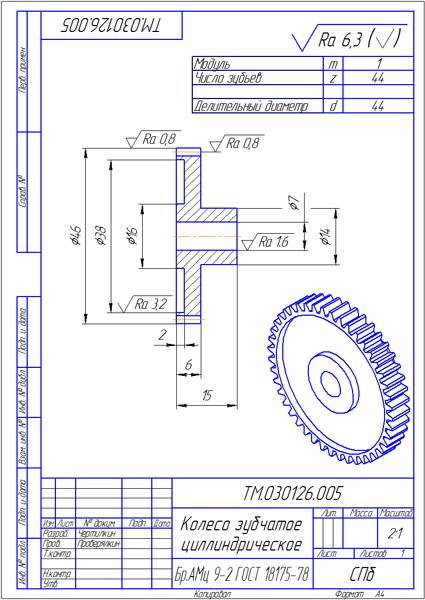 Как сделать зубчатое колесо в компасе - Чай-клуб