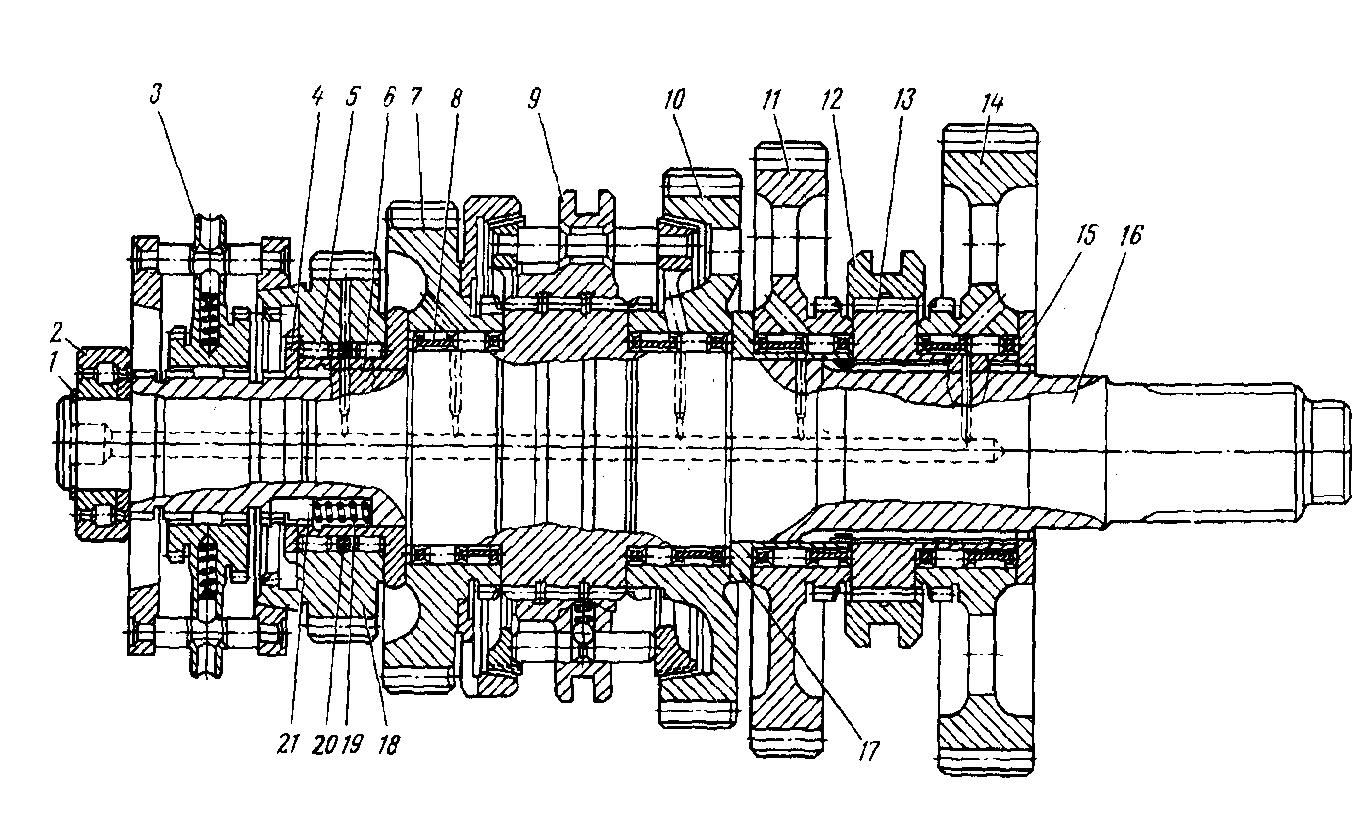 схема установки двухдискового сцепления на урал 4320